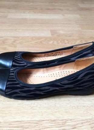 Кожаные туфли gabor 37 размера в состоянии новых