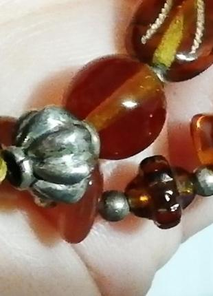 Не пластик! шикарное, необычное, очень красивое винтажное  ожерелье + подарок