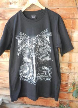 Натуральная футболка 3д  принт