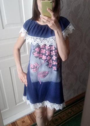 Красивое платье свободного кроя # хлопковое платье #
