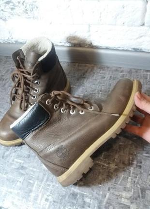 Классные ботинки timberland. кожа
