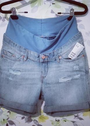 f1bbc94d966b Шорты бойфренды джинсовые h m mama для беременных разм. s, одежда для  беременных1 ...