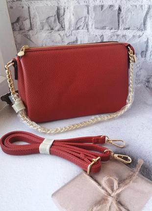 Кожаная сумка клатч екокожа шкіряна сумка шкіряний еко клатч