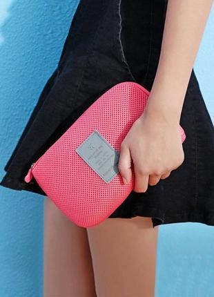 Клатч-органайзер дорожный для телефона, зарядки, наушников, косметики