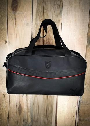 Новая качественная стильная сумка кожа pu / сумка в дорогу / на фитнес puma
