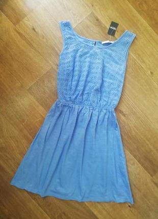 Котоновое платье с кружевом, батистом, прошвой, сукня, сарафан, плаття