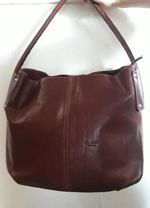 Италия кожаная женская сумка.