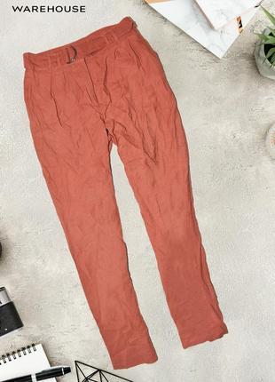 Вискозные штаны с поясом warehouse