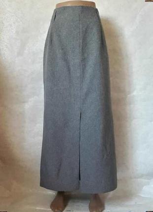 Новая базовая классическая юбка в пол в сером цвете, материал костюмка, размер л-ка
