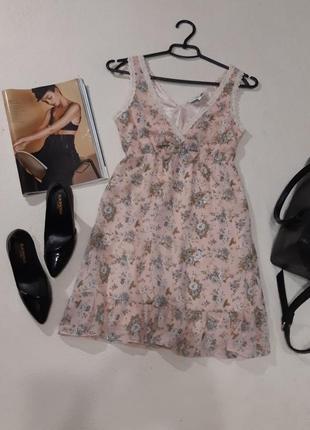 Красивое брендовое платье в цветочный принт new look