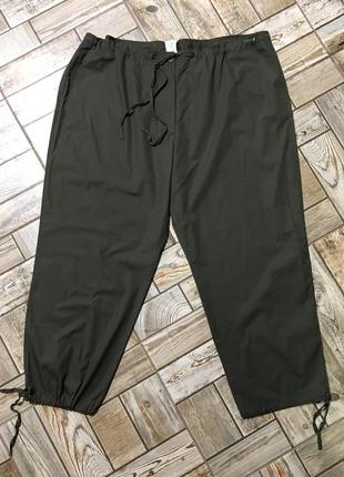 Лёгкие коттоновые брюки карго ,100%хлопок,хаки,большой размер!