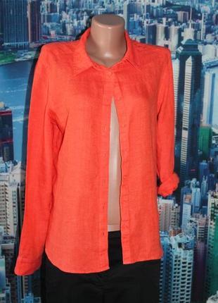 Блуза рубашка 100% лен