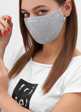 Двухслойные многоразовые маски, разные цвета