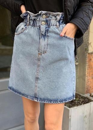 🔥лучшая цена 🔥 джинсовая юбка трапеция