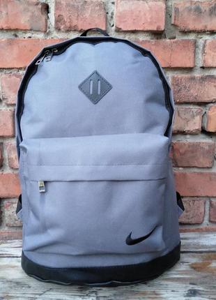 Новый классный качественный городской, спортивный рюкзак оксфорд+экокожа / сумка