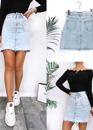 3 цвета! юбка джинсовая мини