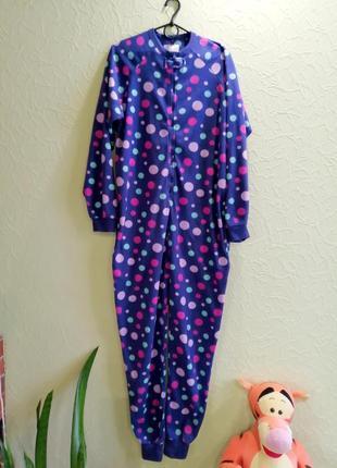 Кигуруми теплый флисовый слип пижама женская s, es 38-40, uk10-12