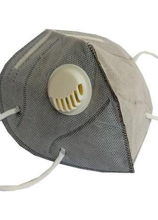Респиратор с клапаном и угольным фильтром , маска2 фото