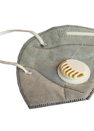 Респиратор с клапаном и угольным фильтром , маска3 фото
