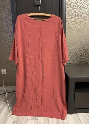 Красивое платье терракотового цвета ,производство америка