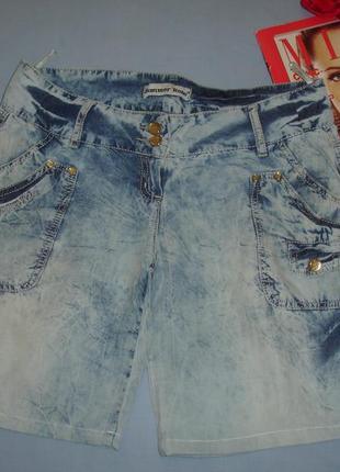 Женские шорты джинсовые размер 46 / 12 летние тонкие шортики