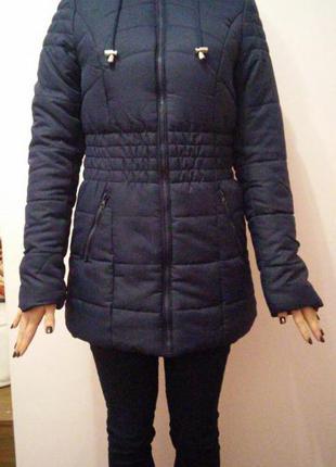 Новое теплое пальто пуховик