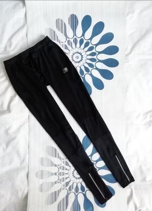 Черные лосины леггинсы karrimor чорні лосіни легінси для спорта фитнеса бега оригинал