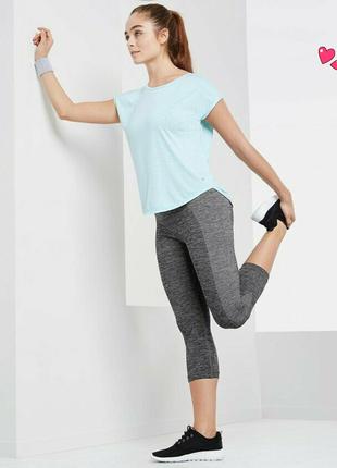 Капри tchibo,лосины укороченные спортивные, одежда для фитнеса