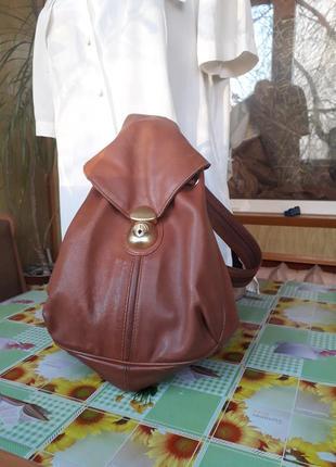 Рюкзак-сумка транформер   из натуральной кожи