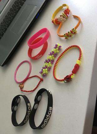 Набор детских браслетов из 10 штук