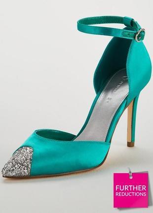 Брендовые роскошные атласные туфли босоножки 40 размера v by very