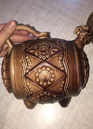 Винная бочка, фужер для спиртного керамика