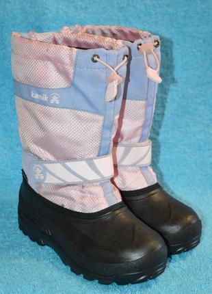Снегоходы  ботинки сапоги kamik waterproof зима 4р.