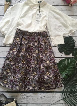Платье нарядное с блузой и плотной юбкой vero moda