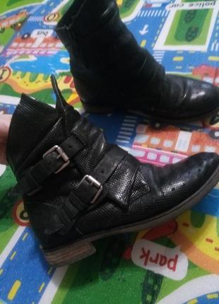Ботинки челси кожа