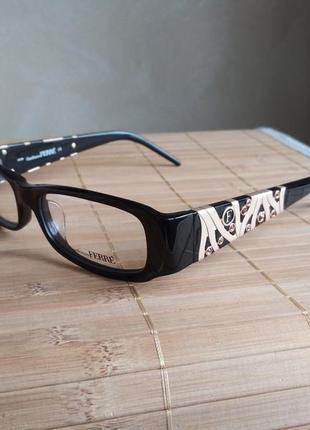 Фирменная черная оправа под линзы, очки для зрения оригинал g.ferre gf359 01