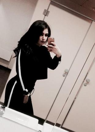 Спортивный костюм чёрный женский
