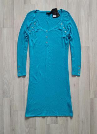 Сукня м л трикотажное голубое платье м л