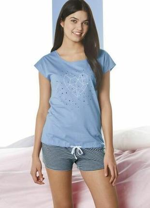 Летний комплект женская пижама домашний костюм esmara германия, футболка шорты
