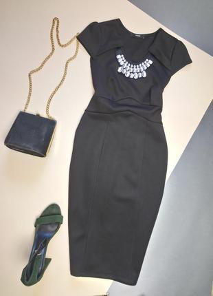 Плотное платье миди с камнями george