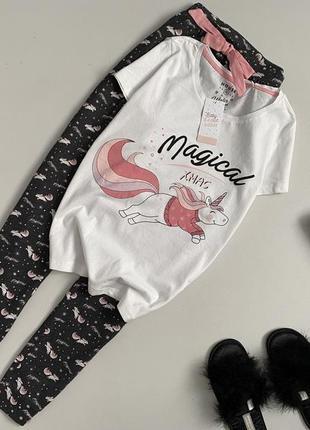 Новая милая пижама штаны + футболка house