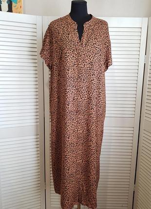 Стильное длинное платье рубашка h&m