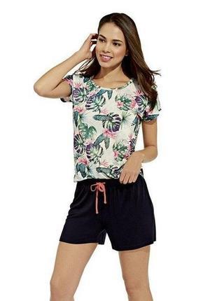 Летний комплект, женская пижама домашний костюм esmara германия, футболка шорты