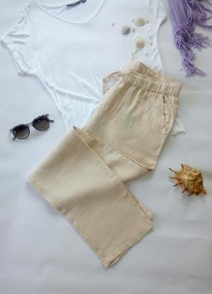 Лляні жіночі штани