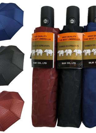 """Автоматический зонт """"три слона"""" на 10 спиц, есть в синем, бордовом и черном цвете."""