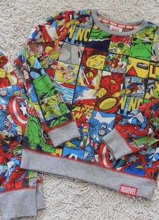 Пижама с супергероями marvel tu на 7-8 лет