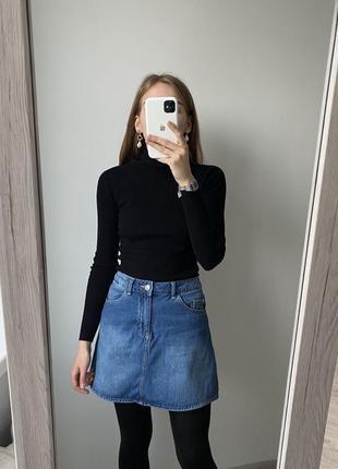 Джинсовая юбка трапеция h&m