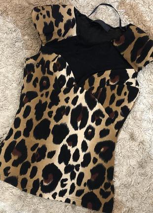 Блузка леопард