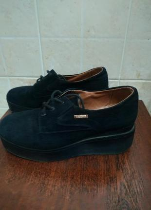 Туфли ботинки натуральний замш