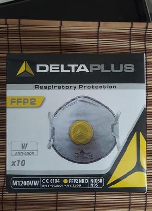 Ffp2 реальная защитная маска респиратор клапан франция delta plus аллергия пыль смог вирус